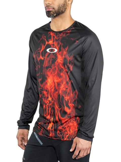 Oakley MTB LS Tech Tee Men flames